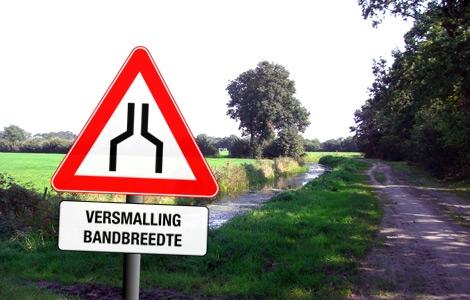 Minder nieuwe glasvezelaansluitingen in Nederland